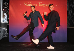 LAS VEGAS, NV - NOVEMBER 19:  Singer Ricky Martin (R) unveils his brand new figure at Madame Tussauds Las Vegas on November 19, 2014 in Las Vegas, Nevada. The Figure will soon travel to Florida for the spring 2015 grand opening of Madame Tussauds Orlando.  (Photo by Gabe Ginsberg/Getty Images for Madame Tussauds) *** Local Caption *** Ricky Martin