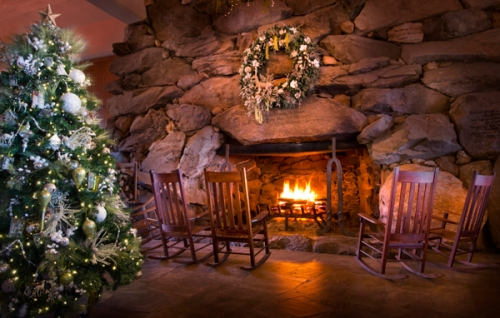 The Omni Grove Park Inn is wrapped in luxury for the holidays.