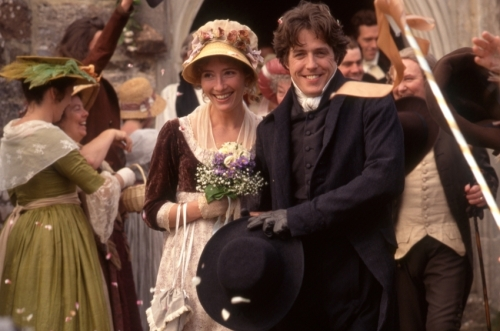 "Costumes worn by actors Emma Thompson and Hugh Grant in ""Sense and Sensibility"""