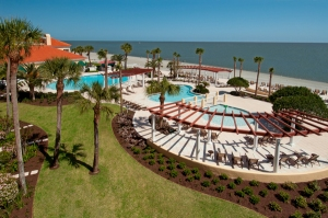 Swimming Pool, The King and Prince Beach & Golf Resort. St. Simons Island, GA.