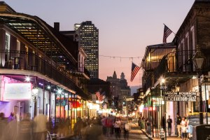 Bourbon Street, New Orleans at night